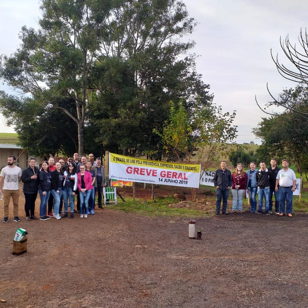 Mobilização na BR 468, em Esquina Boa Vista, marca a Greve Geral na região Celeiro nesta sexta-feira
