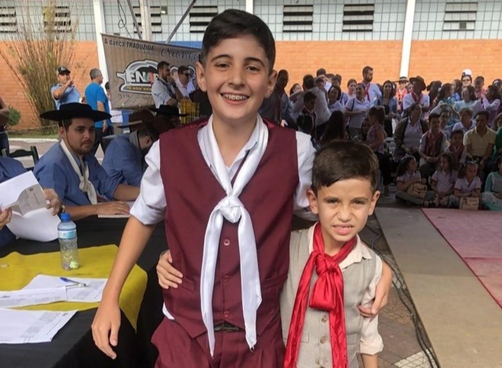 Vitor Hugo e Adalberto, em Soledade — Foto: Giovani Grizotti