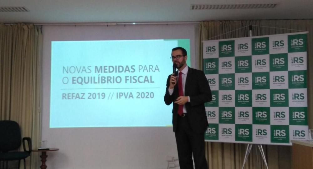 Secretário anunciou medidas do Piratini nesta segunda-feira | Foto: Gustavo Chagas / Rádio Guaíba / Especial / CP