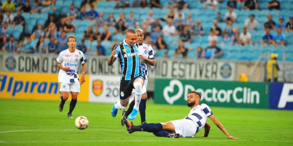 Everton marcou duas vezes e Grêmio venceu o São José de virada | Foto: Fabiano do Amaral