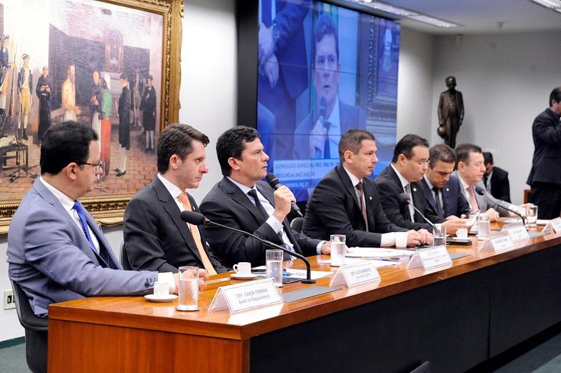Ministro da Justiça, Sérgio Moro, participava do debate com os parlamentares quando a confusão começou | Foto: Cleia Viana / Câmara dos Deputados
