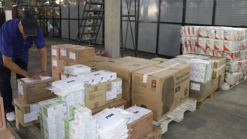 Ministério da Saúde enviou para o Estado 80 mil kits de proteção individual - Foto: Neusa Jerusalém / Ascom SES