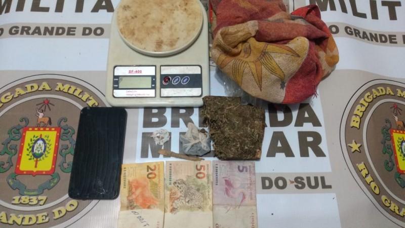 Tráfico de drogas em Santo Augusto - Foto: 7° BPM