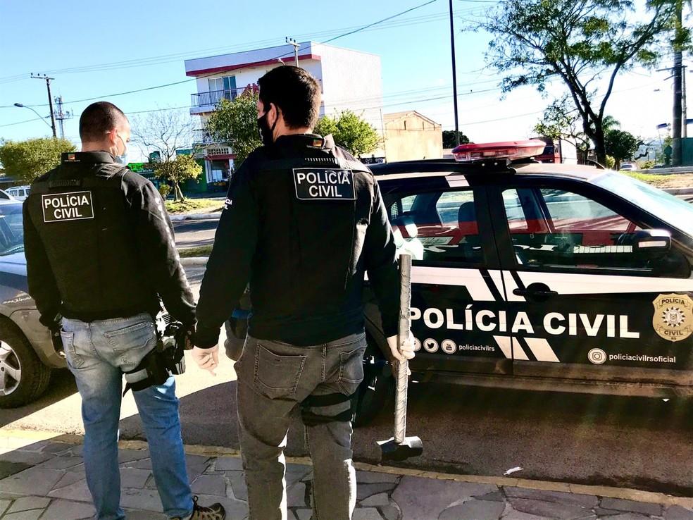 Suspeito de abusos é preso em Viamão — Foto: Divulgação/Polícia Civil