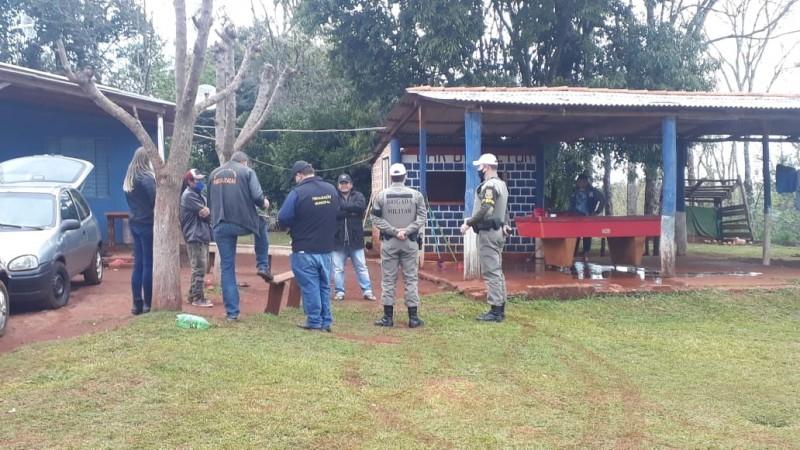 7°BPM efetua apoio para órgãos municipais na cidade de Tenente Portela na Terra Indígena do Guarita.