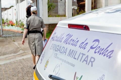 Patrulha Maria da Penha em ação na Lomba do Pinheiro. - Foto: Claudio Fachel/Palácio Piratini