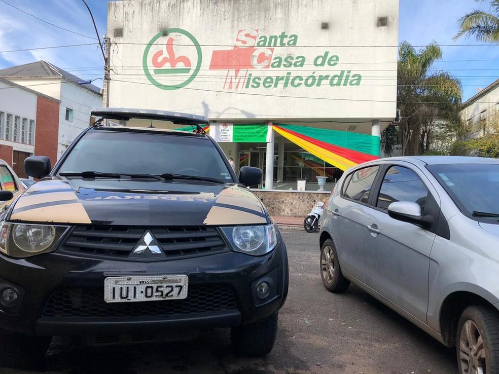 PF investiga desvio de R$ 2 milhões da Santa Casa de Santana do Livramento — Foto: Divulgação/PF-RS