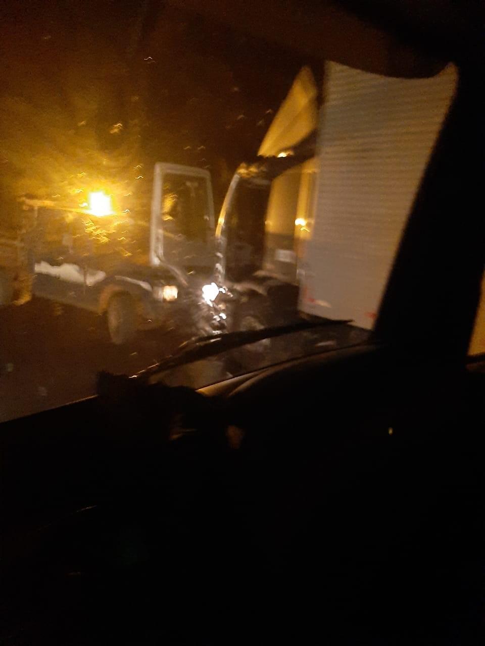 Acidente envolve caminhão e veículos sobre a Ponte do Rio Turvo em Coronel Bicaco na BR-468