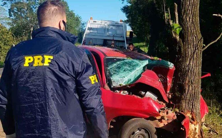 Homem morreu em acidente em Veranópolis — Foto: Divulgação/PRF