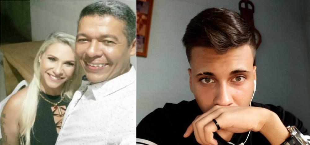 Foram mortos Elzilene Tavares Viana, de 41 anos, conhecida como Babalu, o filho dela, Luiz Felipe Viana Antônio da Silva, de 19 anos, o marido dela, Leôncio José Gomes, de 40 anos — Foto: Arquivo pessoal