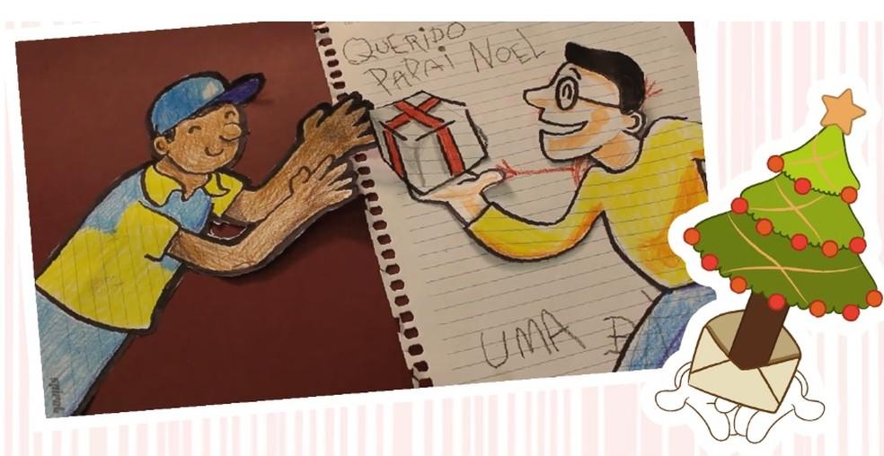 Imagem foi retirada do Blog dos Correios, onde as pessoas podem adotar as cartinhas — Foto: Reprodução/Blog dos Correios