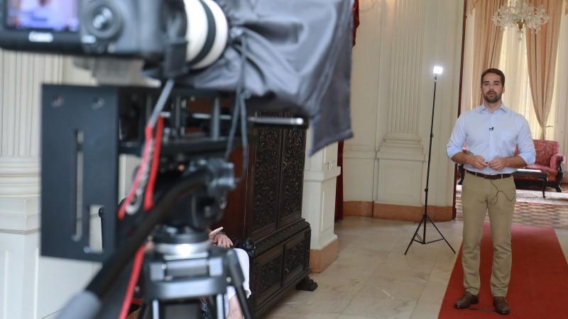 Governador Leite gravou vídeo, publicado em redes sociais, detalhando os resultados expressivos - Foto: Itamar Aguiar / Palácio Piratini