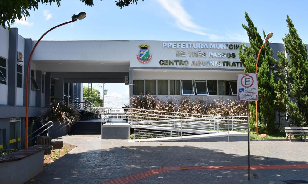 Centro administrativo da Prefeitura de Três Passos (Foto: Arquivo)