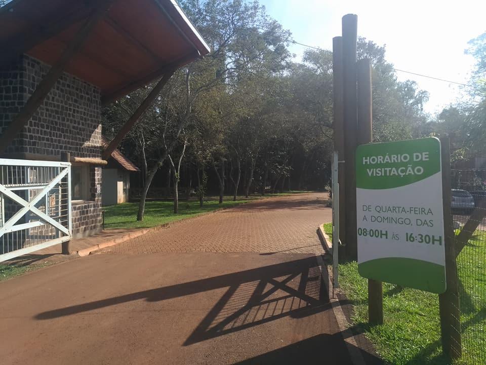 Local de acesso ao Parque Estadual do Turvo (Foto: Rádio Alto Uruguai / Arquivo)