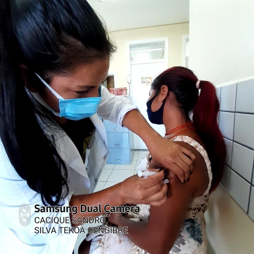 Aldeia Indígena GENGIBRE de Erval Seco recebeu no dia de hoje a segunda dose da vacina contra a Covid-19