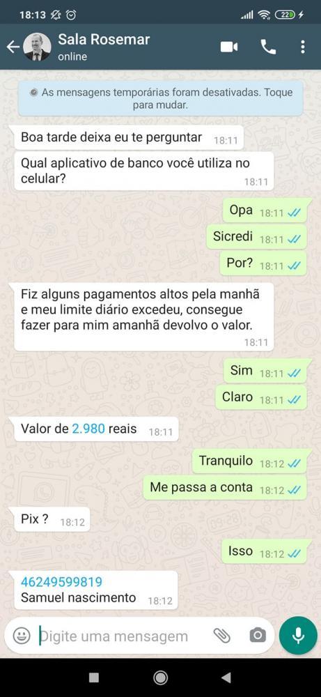 Prefeito de Tenente Portela tem conta de WhatsApp clonada
