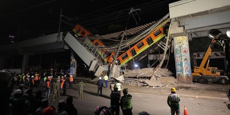Trem do metrô da Cidade do México cai em avenida e deixa dezenas de mortos e feridos