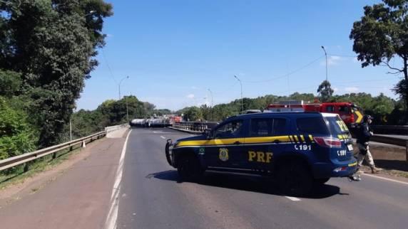 Um dos acidentes com morte ocorreu em março deste ano, quando caminhão com combustível explodiu na BR-386 em Estrela - Foto: Divulgação / Polícia Rodoviária