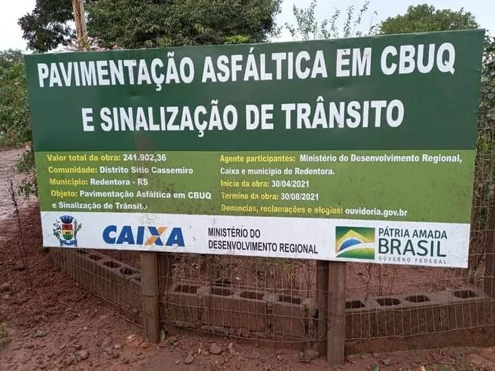 Redentora: Administração Municipal inicia preparação para asfaltamento em Sítio Cassemiro