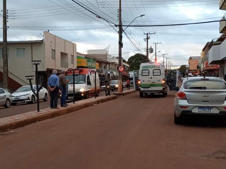 Idoso morre após cair de bicicleta no centro de Coronel Bicaco