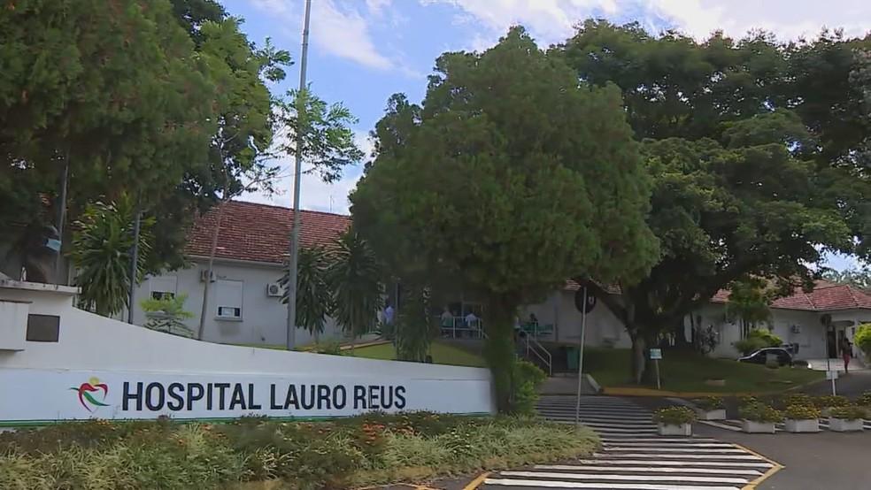 Hospital Lauro Reus, em Campo Bom — Foto: Reprodução/RBS TV