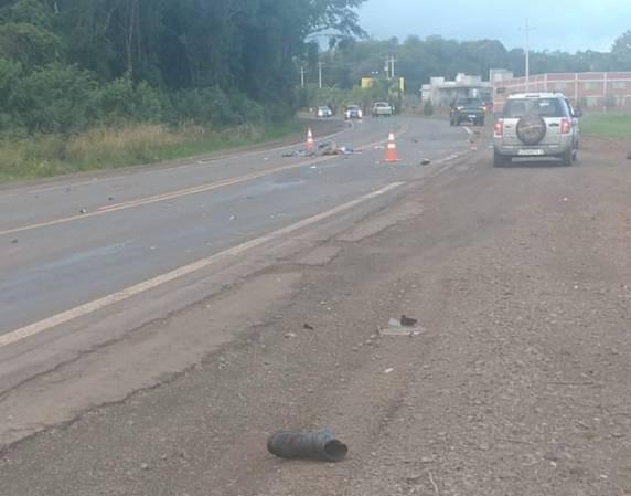 Colisão entre carro e moto deixa um morto na RS 210 em Boa Vista do Buricá - RD Foco