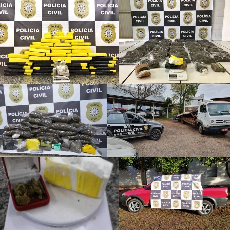 Polícia Civil e Brigada Militar desarticulam em Santo Ângelo grupo que atuava no tráfico de drogas