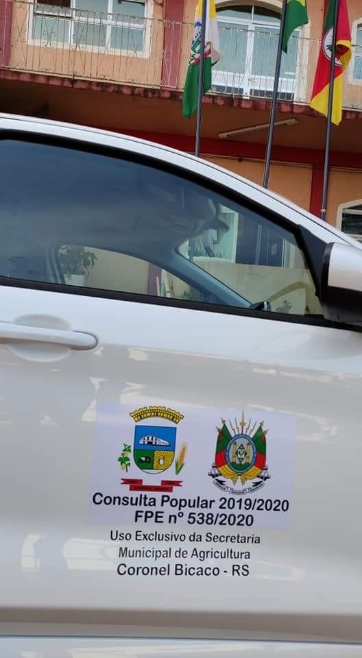 Coronel Bicaco; Município adquire veículo novo para a Secretaria da Agricultura - RD Foco