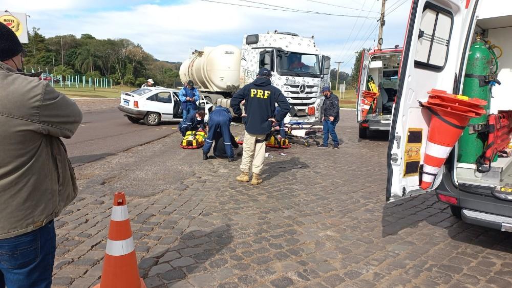 Acidente em Ijuí deixa três pessoas feridas - RD Foco