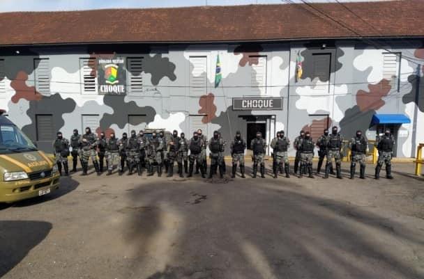 BM presta apoio a SUSEPE na execução de revista no Presídio Estadual de Cruz Alta