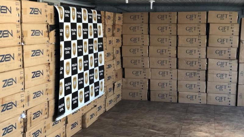 Operação Disfarce apreendeu 100 caixas de cigarros contrabandeados do Paraguai - Foto: Polícia Civil / 1DP de Sapucaia do Sul