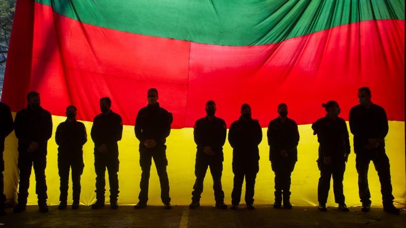 Despedida foi realizada no 1º Batalhão de Bombeiro Militar, em Porto Alegre - Foto: Felipe Dalla Valle / Palácio Piratini