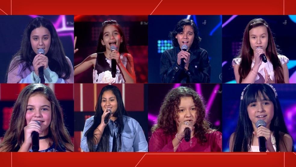 The Voice Kids tem oito participantes do RS — Foto: TV Globo/Reprodução