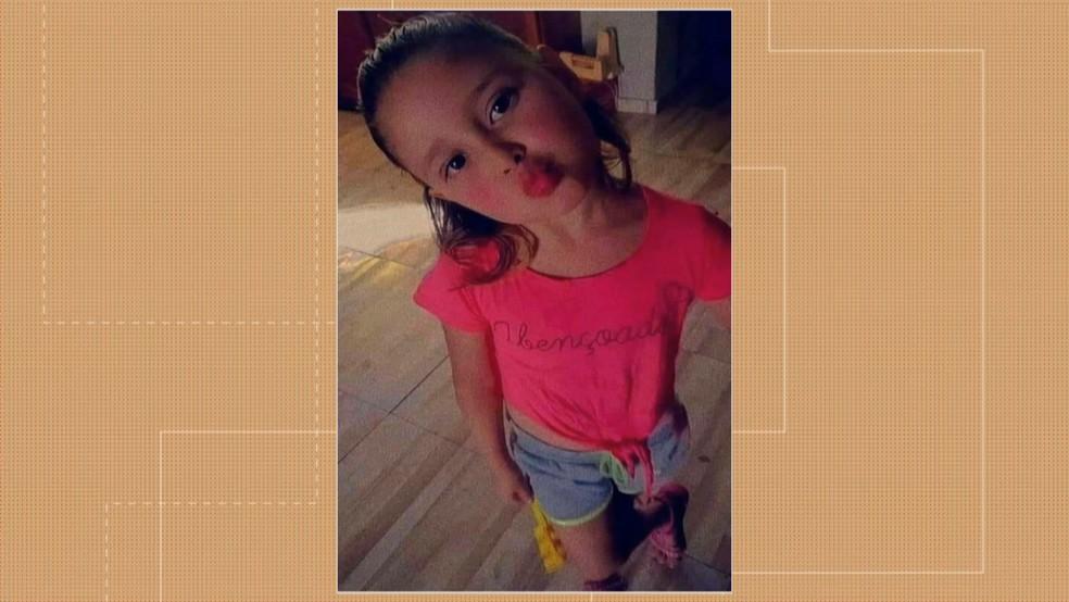 Agatha Rodrigues dos Santos, de cinco anos, morta em Lajeado, no Vale do Taquari, no dia 5 de setembro. — Foto: RBS TV/Reprodução