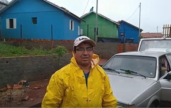 Morador do Bairro São José falando sobre os estragos causados pelos temporais